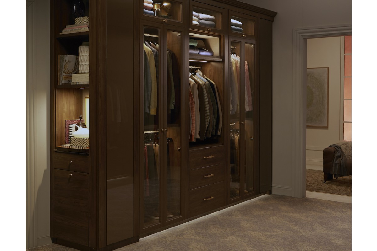 Sophisticated Couple's Walk In Closet - California Closets