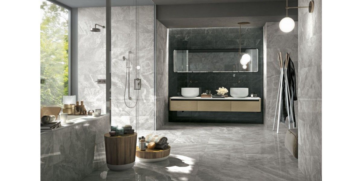 Trevi Gris - Carlos Robles Bath Tiles and Stone