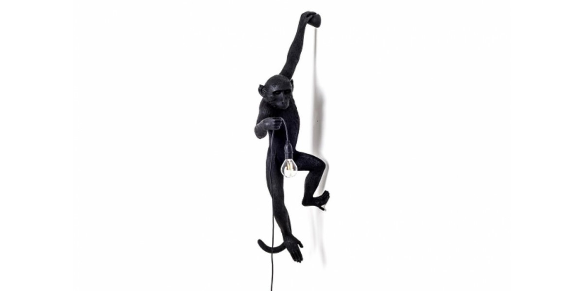 Monkey Black Wall Lamp