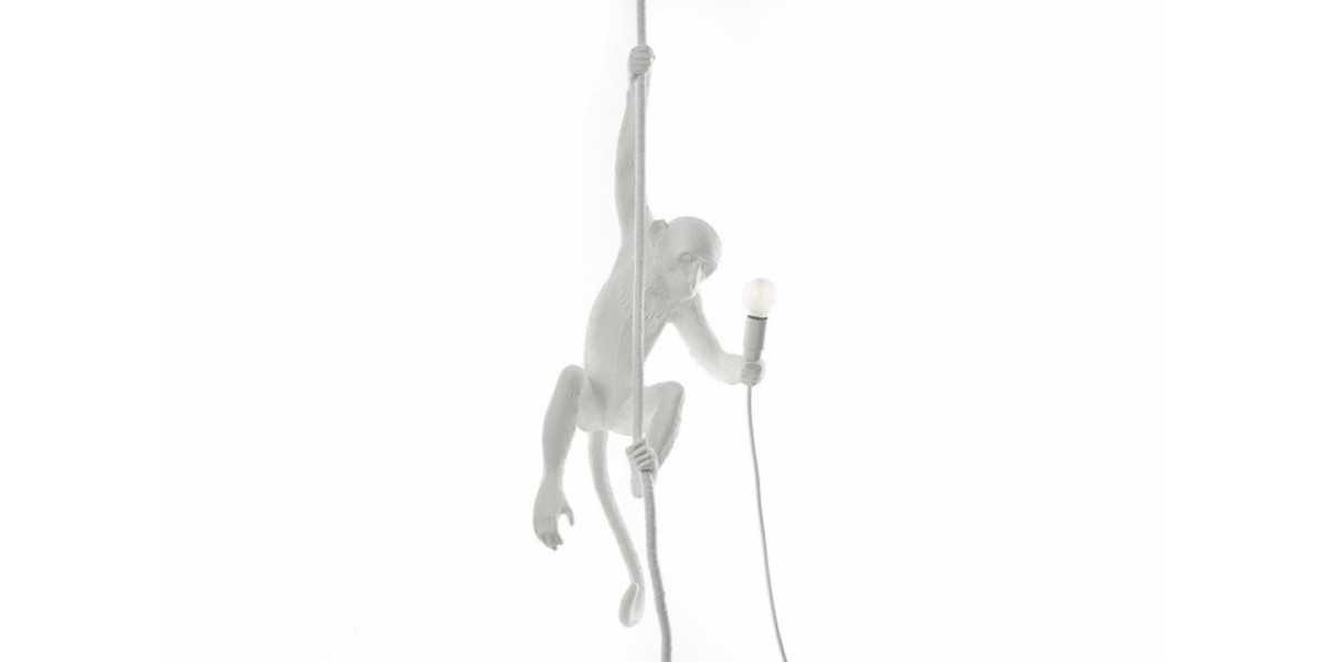 Monkey White Hanging Lamp - XIXI Casa